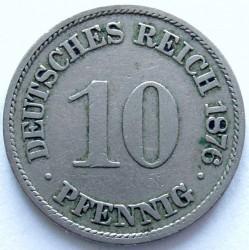 Кованица > 10фенинга, 1873-1889 - Немачка  - reverse