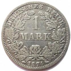 Монета > 1марка, 1873-1887 - Германия  - reverse