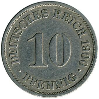 10 Pfennig 1900 Deutschland Münzen Wert Ucoinnet