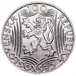 Moneta > 100corone, 1949 - Cecoslovacchia  (70° anniversario - Nascita di Iosif Stalin) - obverse