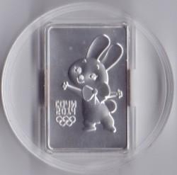 Moneda > 3rublos, 2013 - Rusia  (XXII Juegos Olímpicos de invierno, Sochi 2014: Conejo) - reverse