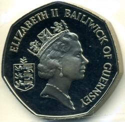 Moeda > 50pence, 1985-1997 - Guernsey  - obverse