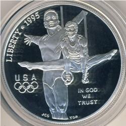 Moneta > 1dollaro, 1995 - USA  (XXVI Giochi olimpici estivi, Atlanta 1996 - Ginnastica) - obverse