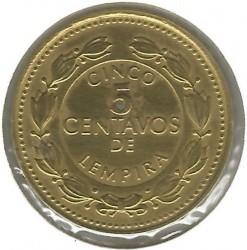 Кованица > 5центи, 1993-1994 - Хондурас  - reverse