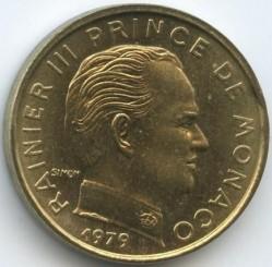 Moneta > 5santimai, 1976-1995 - Monakas  - obverse