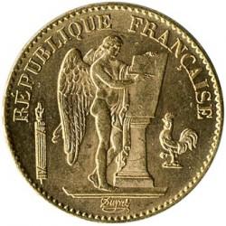 Moneta > 20franchi, 1871-1898 - Francia  - obverse