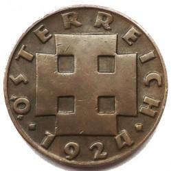 Mynt > 200kroner, 1924 - Österrike  - obverse