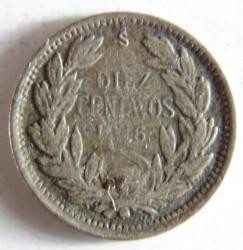 Coin > 10centavos, 1915-1918 - Chile  - reverse