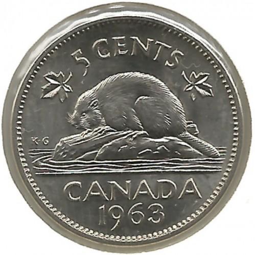 5 Cent 1963 1964 Kanada Münzen Wert Ucoinnet