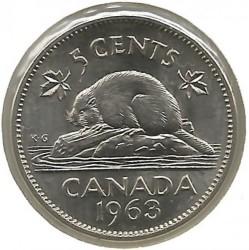 Монета > 5цента, 1963-1964 - Канада  - reverse