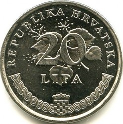 Coin > 20 lipa, 1995 - Croatia  (Food and Agricultural Organization of the United Nations) - obverse