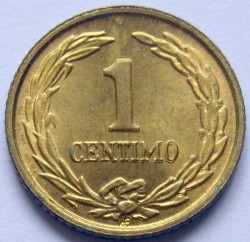Coin > 1 céntimo, 1944-1950 - Paraguay  - reverse