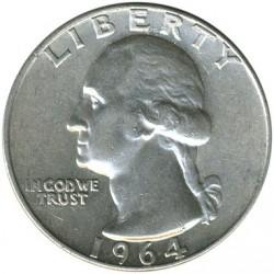Minca > ¼dolára, 1932-1964 - USA  (Washington Quarter) - obverse