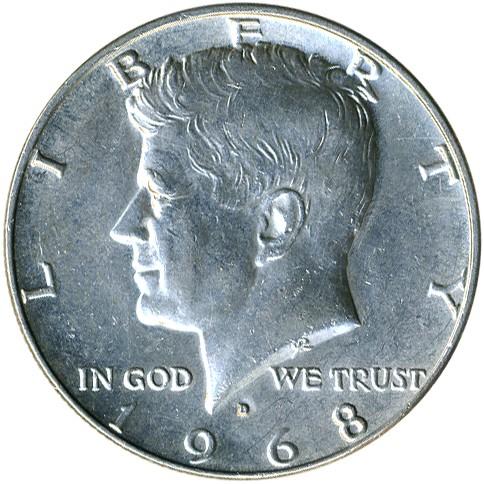 ½ Dollar 1965 1970 Kennedy Half Dollar Usa Münzen Wert Ucoinnet