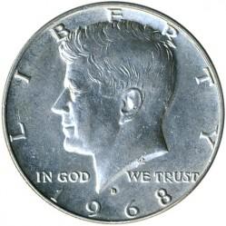 Монета > ½доллара, 1965-1970 - США  (Kennedy Half Dollar) - obverse