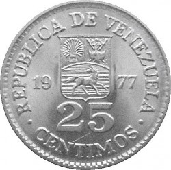 Νόμισμα > 25Σεντίμος, 1977-1987 - Βενεζουέλα  - reverse