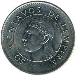Кованица > 50центи, 1995-2014 - Хондурас  - reverse