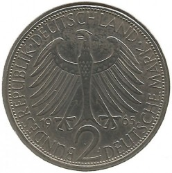 Coin > 2 mark, 1965 - Germany  (Max Planck) - obverse