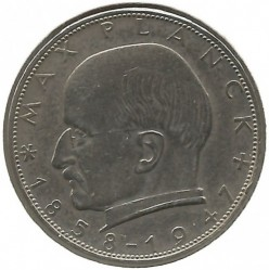 Coin > 2 mark, 1965 - Germany  (Max Planck) - reverse