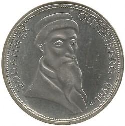 Moneda > 5marcos, 1968 - Alemania  (500º Aniversario - Muerte de Johannes Gutenberg) - reverse