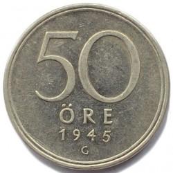 Մետաղադրամ > 50էրե, 1945 -  Շվեդիա  - reverse