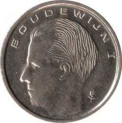 """Moneda > 1franco, 1989 - Bélgica  (Leyenda en holandés: """"BELGIE"""") - obverse"""
