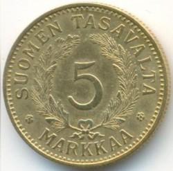 Münze > 5Mark, 1938 - Finnland  - reverse