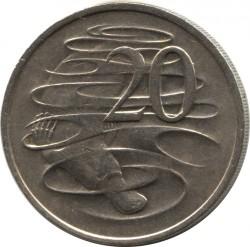Moneta > 20centów, 1966-1984 - Australia  - reverse