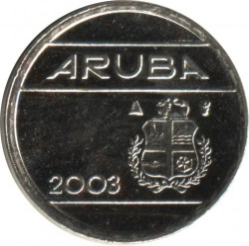 Moneda > 5centavos, 2003 - Aruba  - reverse