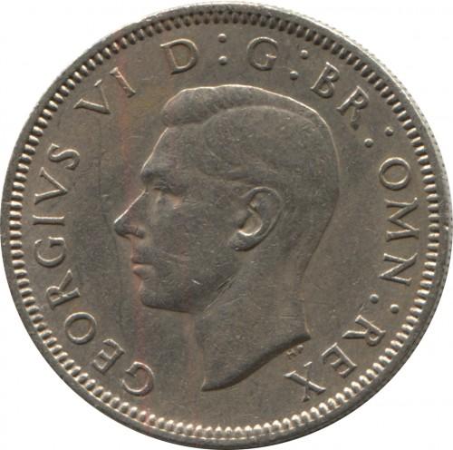 1 shilling 1949-1951 - Scottish crest /seated lion/, United Kingdom