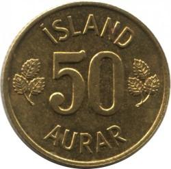 Moneta > 50aurar, 1969-1974 - Islanda  - reverse