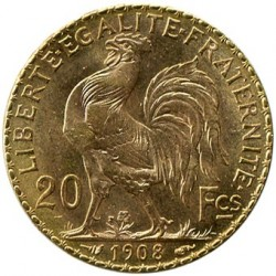Moneda > 20francs, 1907-1914 - França  - obverse