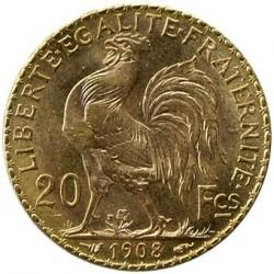 Moneda > 20francs, 1907-1914 - França  - reverse