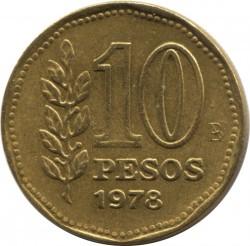 Pièce > 10pesos, 1976-1978 - Argentine  - reverse