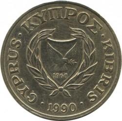 Moneda > 20cents, 1989-1990 - Xipre  - obverse