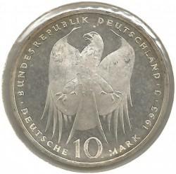 Moneda > 10marcos, 1993 - Alemania  (150avo Aniversario -Del nacimiento de Robert Koch) - obverse