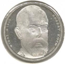 Moneda > 10marcos, 1993 - Alemania  (150avo Aniversario -Del nacimiento de Robert Koch) - reverse