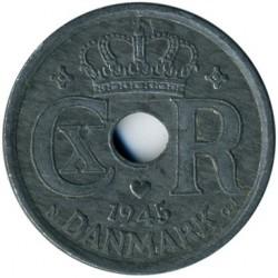 Coin > 25ore, 1945 - Denmark  - obverse