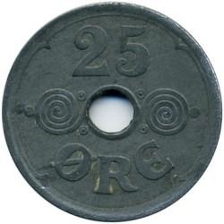 Coin > 25ore, 1945 - Denmark  - reverse