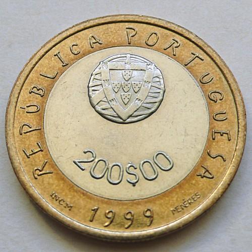 200 Escudos 1999 Unicef Portugal Münzen Wert Ucoinnet