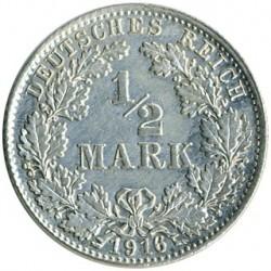 Moneda > 1/2marco, 1905-1919 - Alemania  - reverse