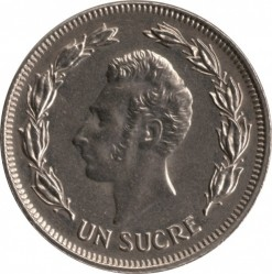 Монета > 1сукре, 1986 - Еквадор  - reverse