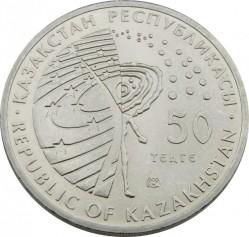 Moneda > 50tenge, 2011 - Kazajistán  (Serie del espacio: Primer astronauta, Yuri Gagarin) - obverse