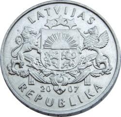 Moneta > 1lats, 2007 - Lettonia  (Snowman) - obverse