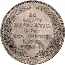 Moneta > ⅓tallero, 1854 - Sassonia  (Morte del re Federico Augusto II) - reverse