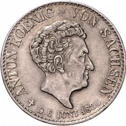 Moneta > ⅙tallero, 1836 - Sassonia  (Morte del re Antonio) - obverse