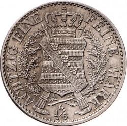 Moneta > ⅙tallero, 1836 - Sassonia  (Morte del re Antonio) - reverse