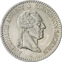 Pièce > ⅙thaler, 1827 - Saxe  (Mort du roi Frédéric-Auguste I) - obverse