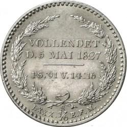 Moneta > ⅙tallero, 1827 - Sassonia  (Morte del re Federico Augusto I) - reverse