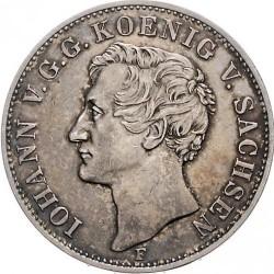Moneta > 1tallero, 1855 - Sassonia  (Visita del re Giovanni I alla zecca) - obverse